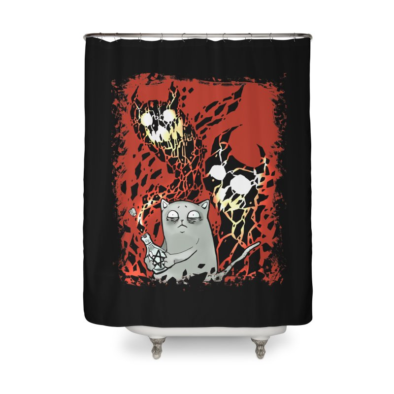 Ooops! Home Shower Curtain by Catopathy