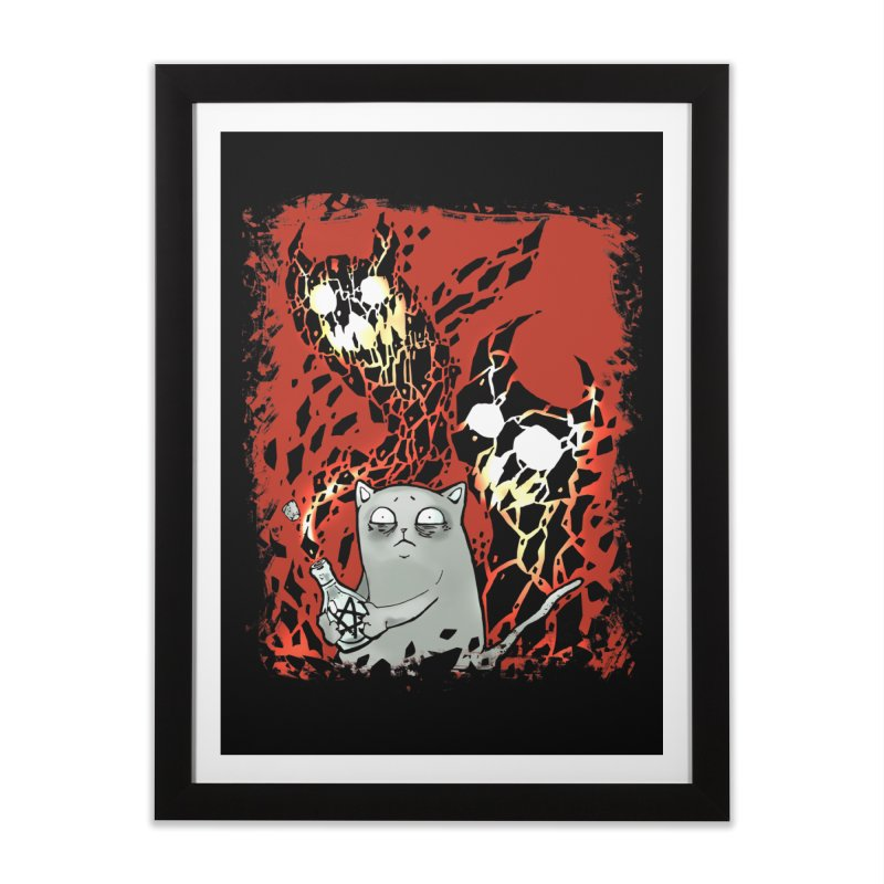 Ooops! Home Framed Fine Art Print by Catopathy