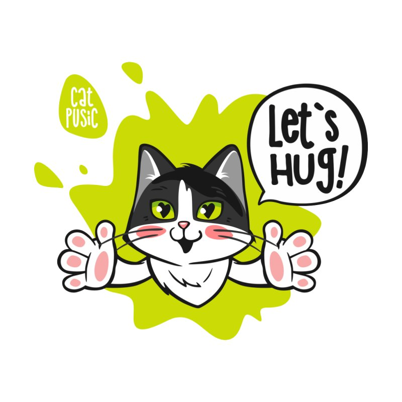 Let's hug! Home Mounted Aluminum Print by SHOP CatPusic
