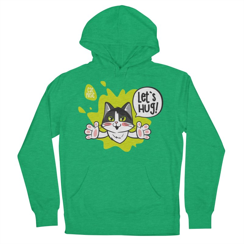 Let's hug! Women's French Terry Pullover Hoody by SHOP CatPusic