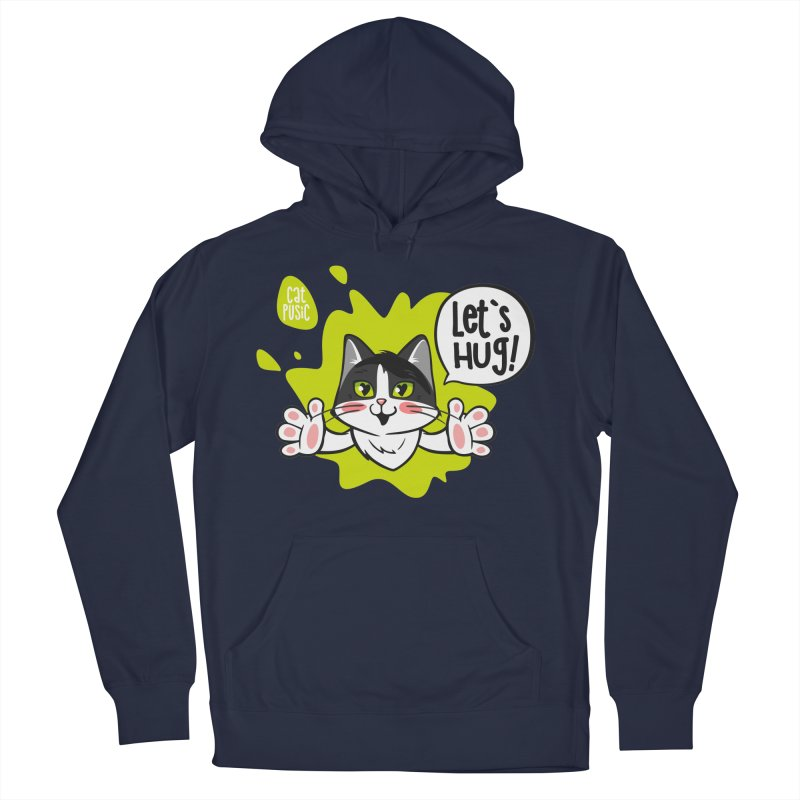 Let's hug! Men's French Terry Pullover Hoody by SHOP CatPusic