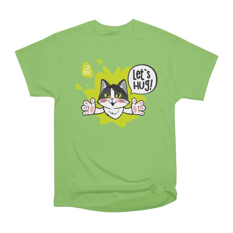 Let's hug! Women's Heavyweight Unisex T-Shirt by SHOP CatPusic