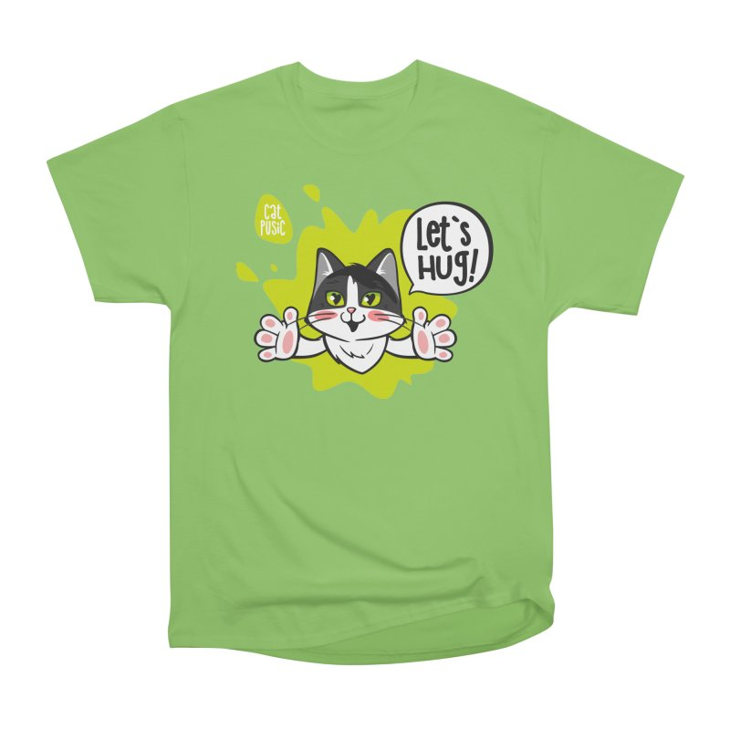 Let's hug! Men's Heavyweight T-Shirt by SHOP CatPusic
