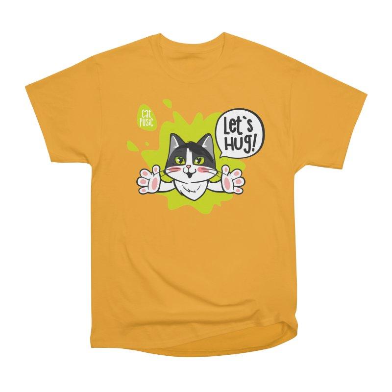 Let's hug! Men's Heavyweight T-Shirt by SHOP CatPusic