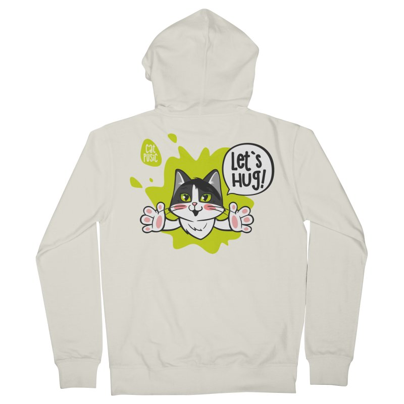 Let's hug! Women's French Terry Zip-Up Hoody by SHOP CatPusic