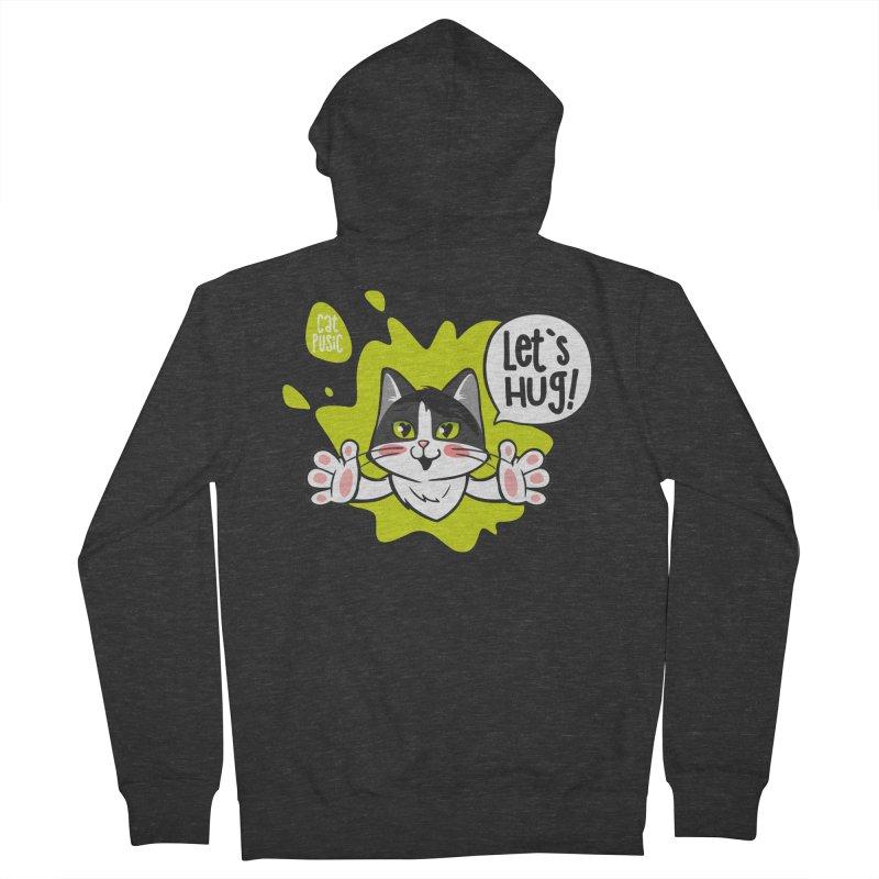 Let's hug! Men's Zip-Up Hoody by SHOP CatPusic
