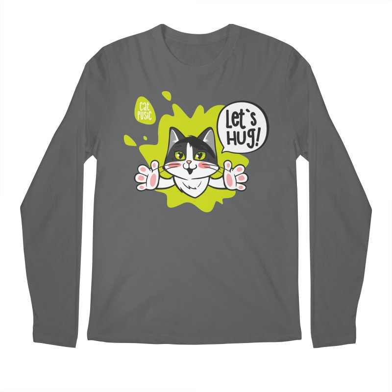 Let's hug! Men's Longsleeve T-Shirt by SHOP CatPusic