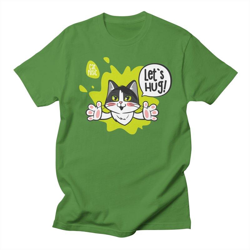 Let's hug! Men's Regular T-Shirt by SHOP CatPusic