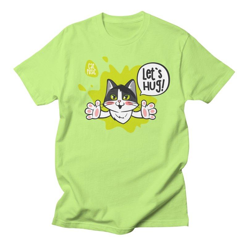 Let's hug! Women's Regular Unisex T-Shirt by SHOP CatPusic