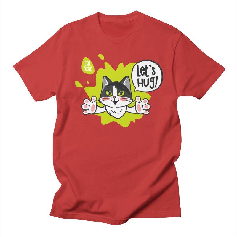 Let's hug! Men's T-Shirt by SHOP CatPusic