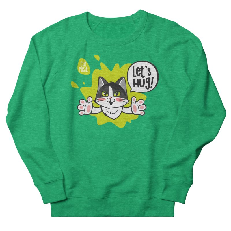 Let's hug! Women's French Terry Sweatshirt by SHOP CatPusic