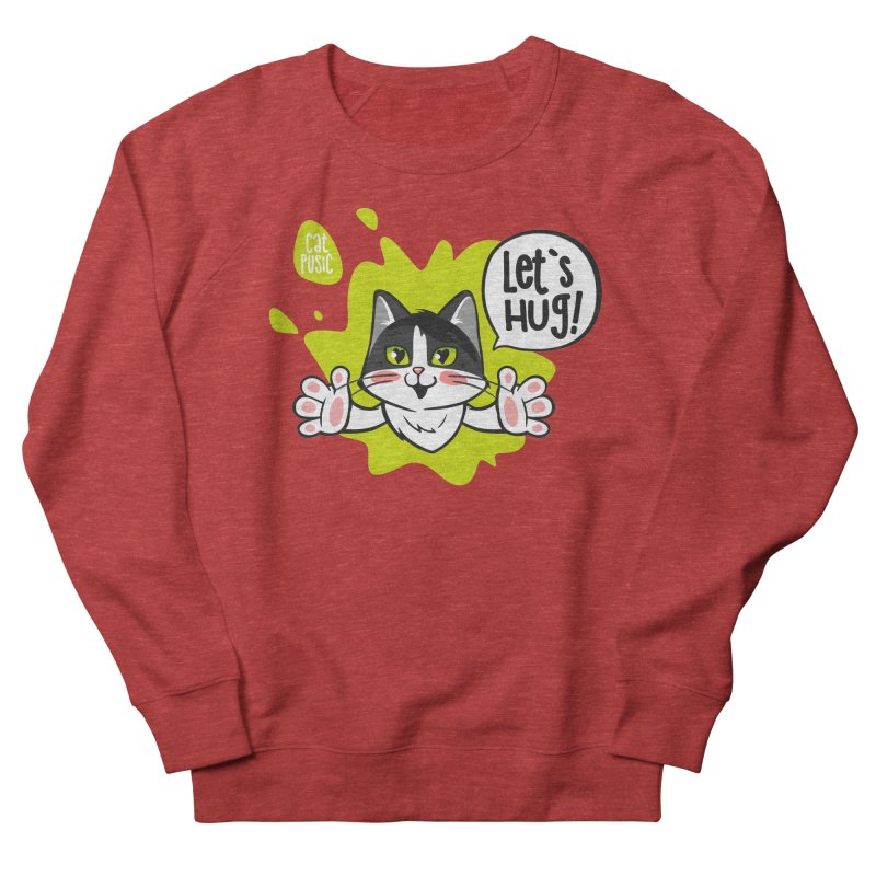 Let's hug! Men's French Terry Sweatshirt by SHOP CatPusic