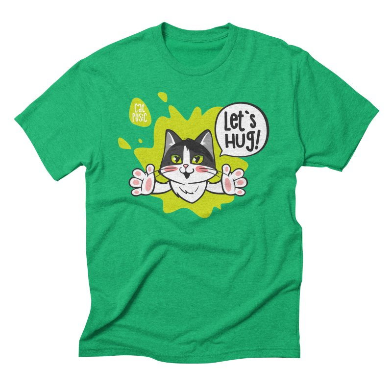 Let's hug! Men's Triblend T-Shirt by SHOP CatPusic