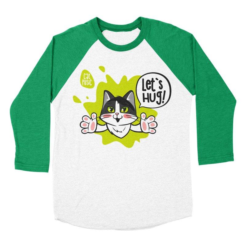 Let's hug! Women's Baseball Triblend Longsleeve T-Shirt by SHOP CatPusic
