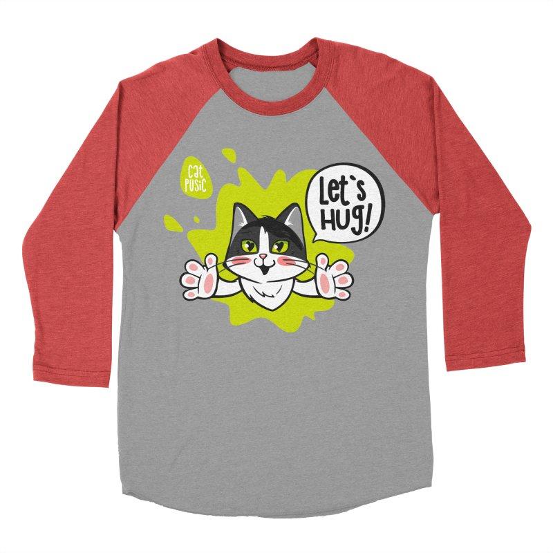 Let's hug! Men's Baseball Triblend T-Shirt by SHOP CatPusic