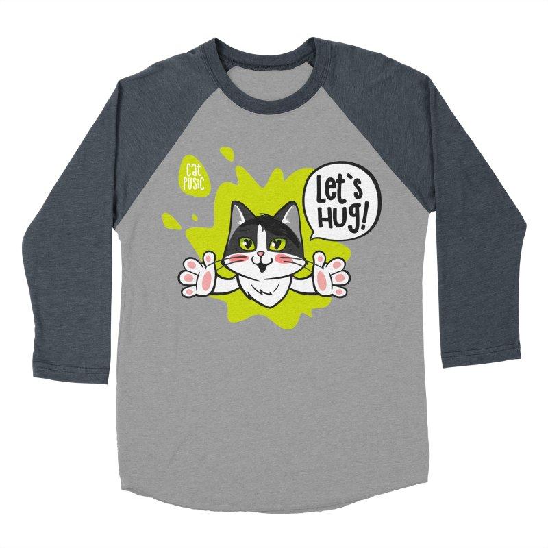 Let's hug! Men's Baseball Triblend Longsleeve T-Shirt by SHOP CatPusic