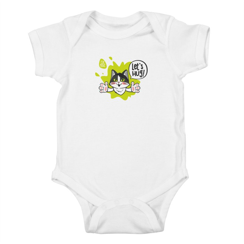 Let's hug! Kids Baby Bodysuit by SHOP CatPusic