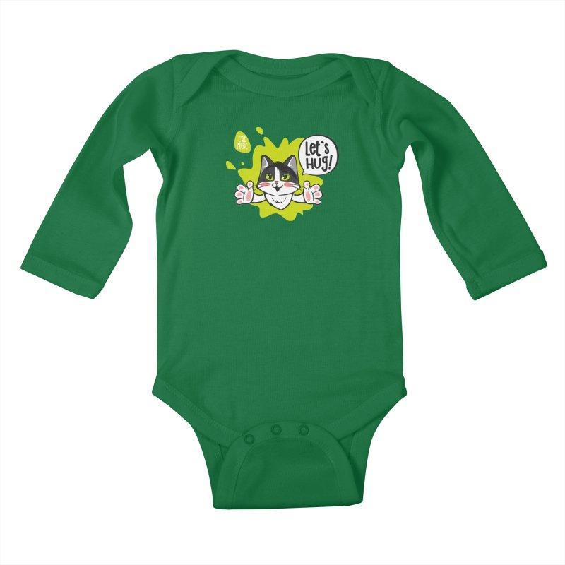 Let's hug! Kids Baby Longsleeve Bodysuit by SHOP CatPusic