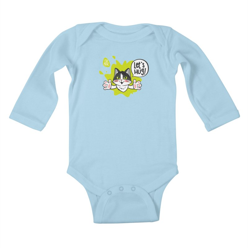 Let's hug! Kids Baby Longsleeve Bodysuit by SHOP CatPusic