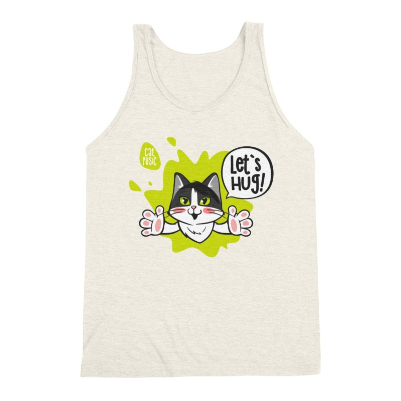 Let's hug! Men's Triblend Tank by SHOP CatPusic
