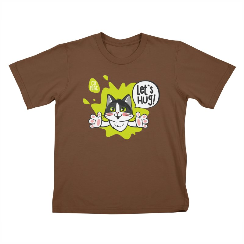Let's hug! Kids T-Shirt by SHOP CatPusic