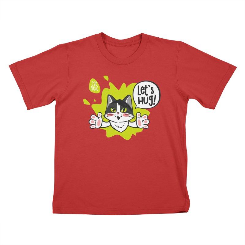 Let's hug! Kids T-Shirt by SHOP CatPusic