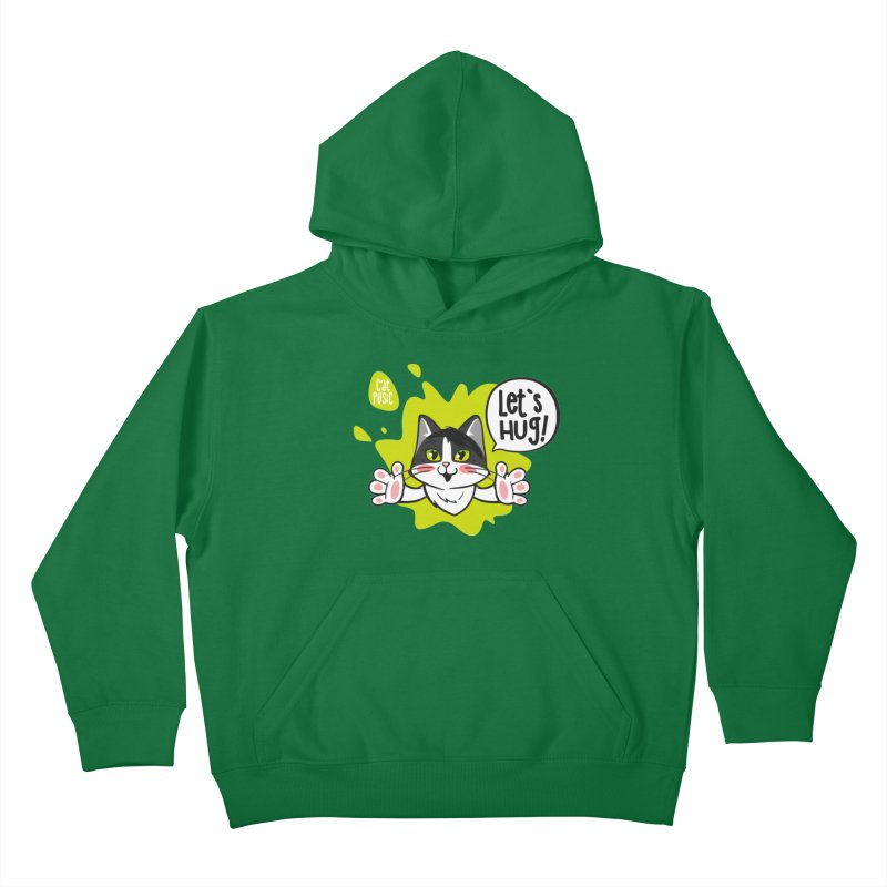 Let's hug! Kids Pullover Hoody by SHOP CatPusic