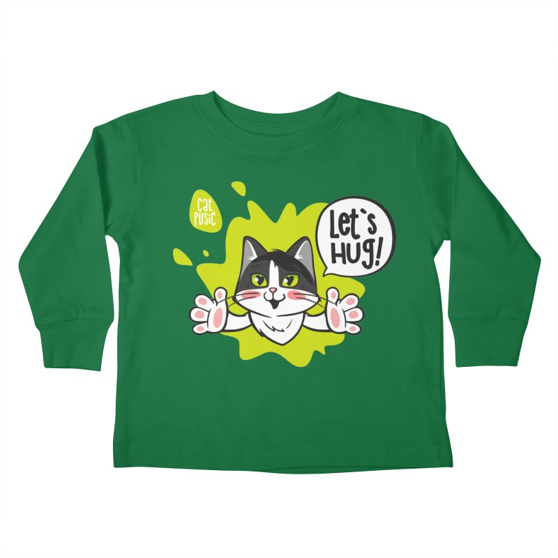 Let's hug! Kids Toddler Longsleeve T-Shirt by SHOP CatPusic