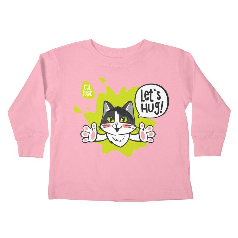 Let's hug! Kids Toddler Longsleeve T-Shirt by SHOP CatPusic