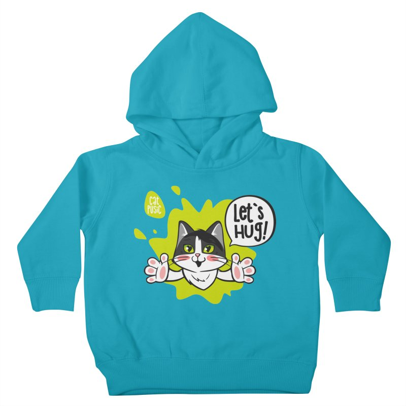 Let's hug! Kids Toddler Pullover Hoody by SHOP CatPusic