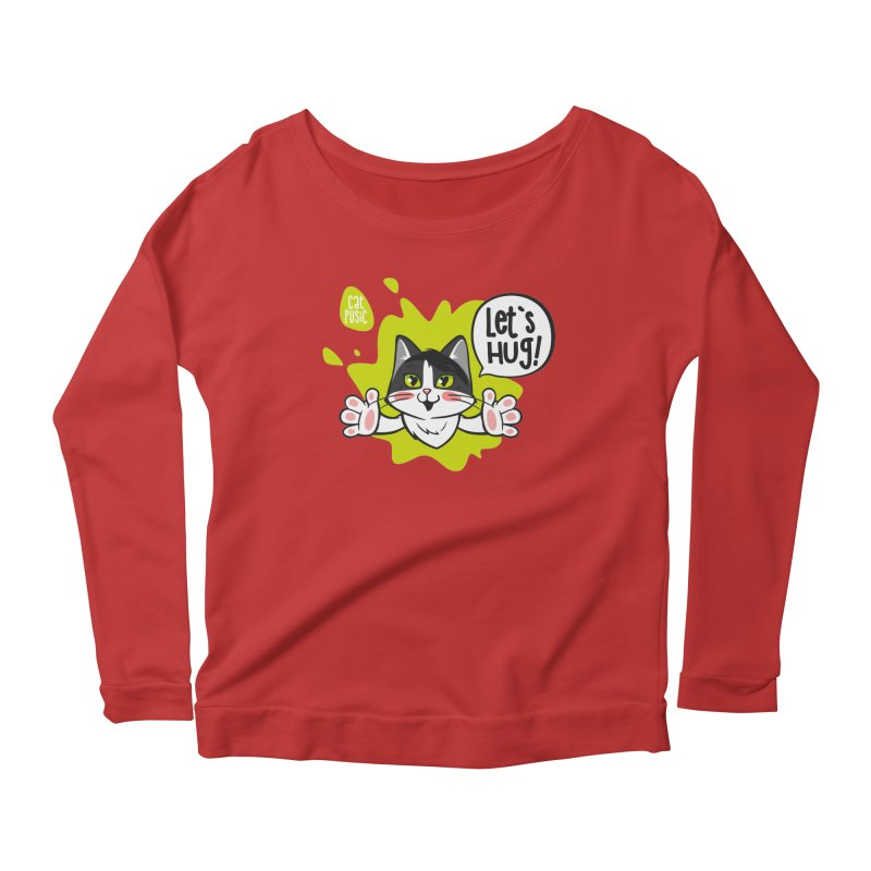 Let's hug! Women's Scoop Neck Longsleeve T-Shirt by SHOP CatPusic