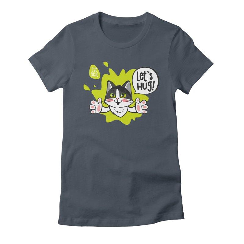 Let's hug! Women's T-Shirt by SHOP CatPusic