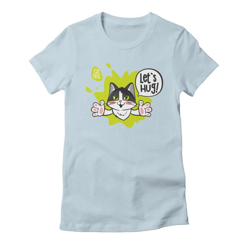 Let's hug! Women's Fitted T-Shirt by SHOP CatPusic