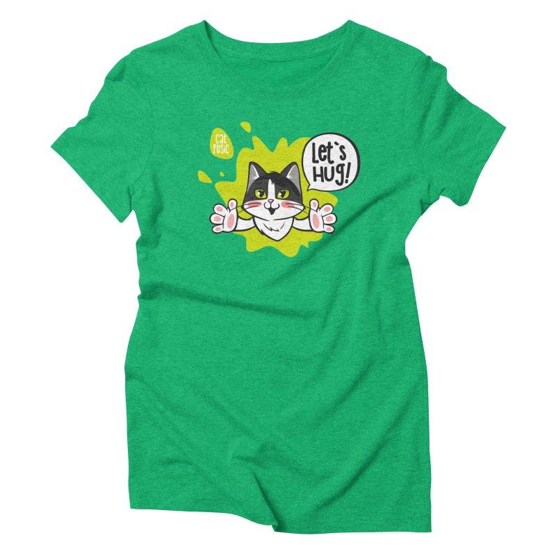 Let's hug! Women's Triblend T-Shirt by SHOP CatPusic
