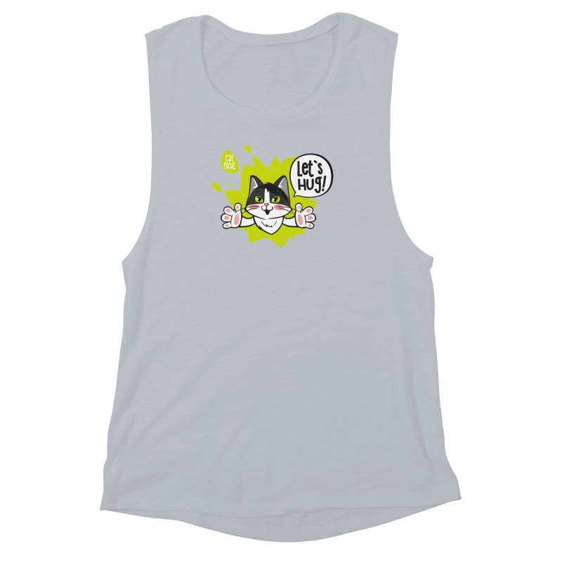 Let's hug! Women's Muscle Tank by SHOP CatPusic