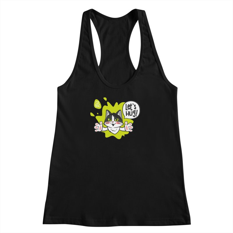Let's hug! Women's Racerback Tank by SHOP CatPusic