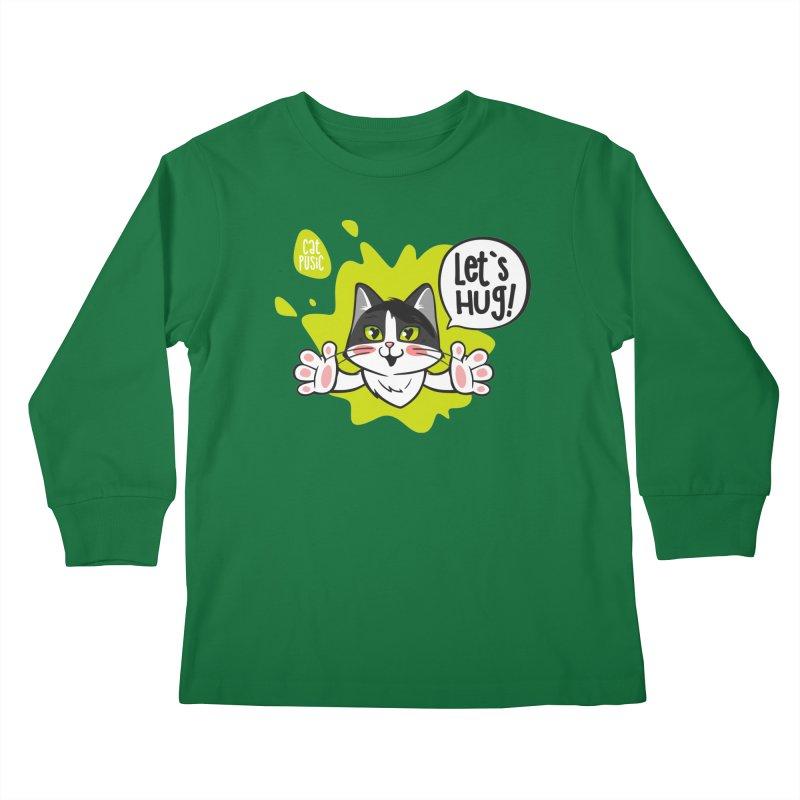 Let's hug! Kids Longsleeve T-Shirt by SHOP CatPusic
