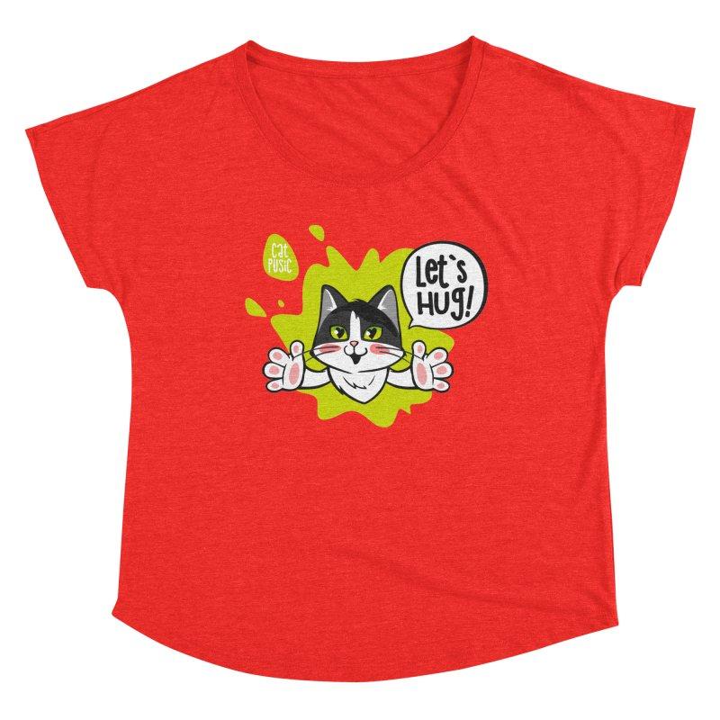 Let's hug! Women's Scoop Neck by SHOP CatPusic