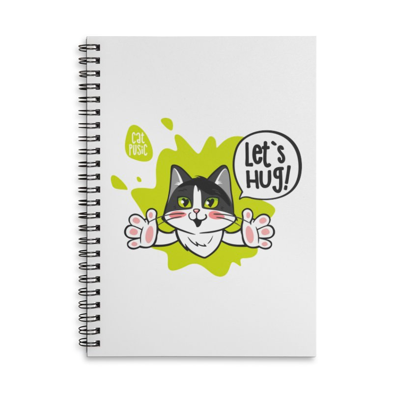 Let's hug! Accessories Lined Spiral Notebook by SHOP CatPusic