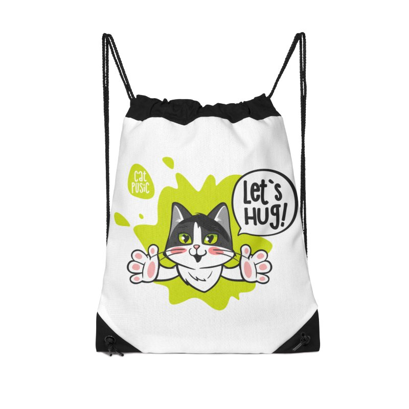 Let's hug! Accessories Drawstring Bag Bag by SHOP CatPusic