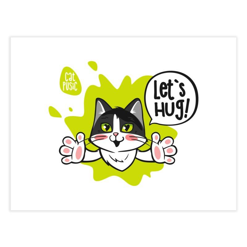 Let's hug! Home Fine Art Print by SHOP CatPusic