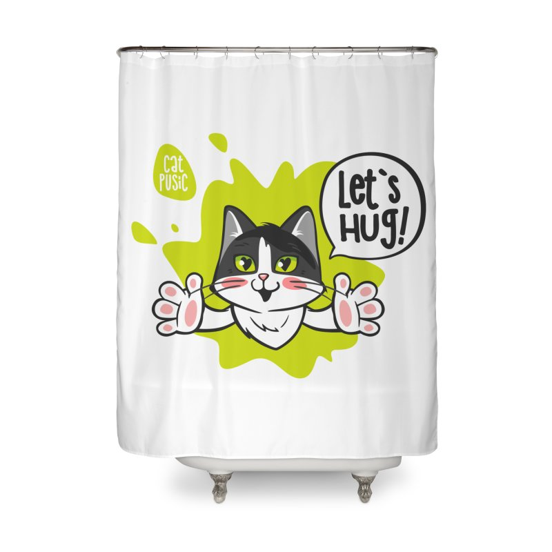 Let's hug! Home Shower Curtain by SHOP CatPusic