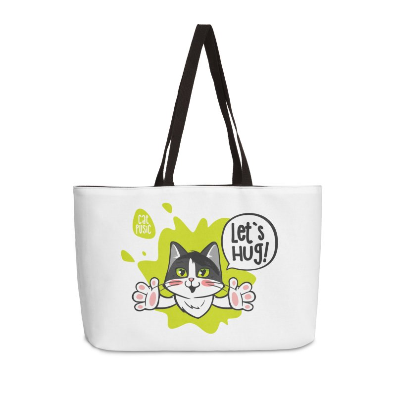 Let's hug! Accessories Weekender Bag Bag by SHOP CatPusic