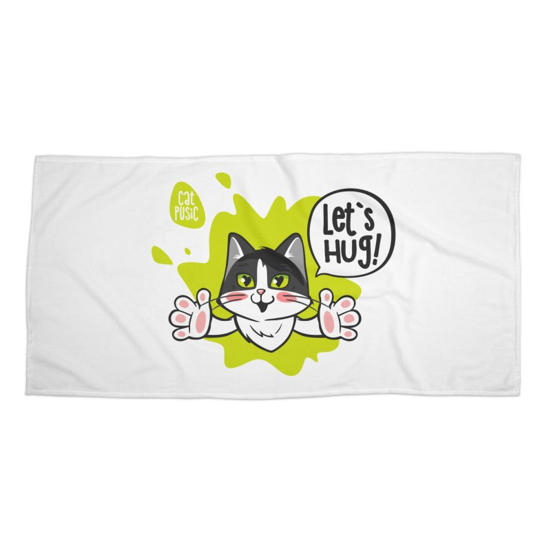 Let's hug! Accessories Beach Towel by SHOP CatPusic