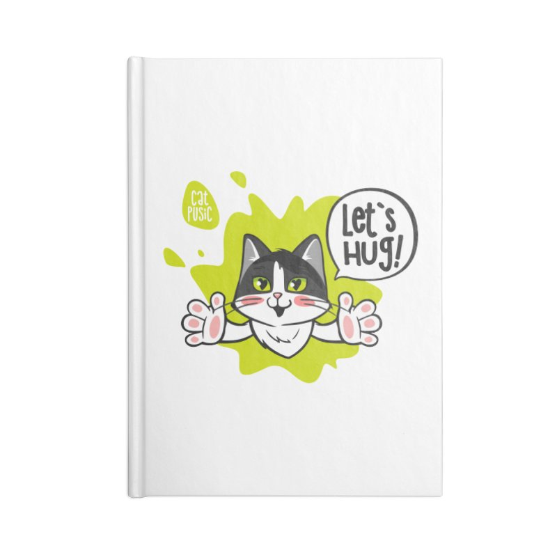 Let's hug! Accessories Lined Journal Notebook by SHOP CatPusic