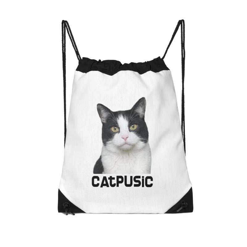 CatPusic Accessories Drawstring Bag Bag by SHOP CatPusic