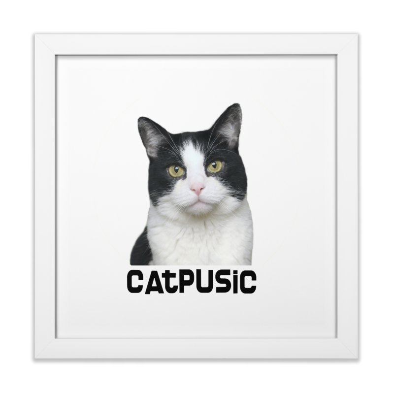 CatPusic Home Framed Fine Art Print by SHOP CatPusic