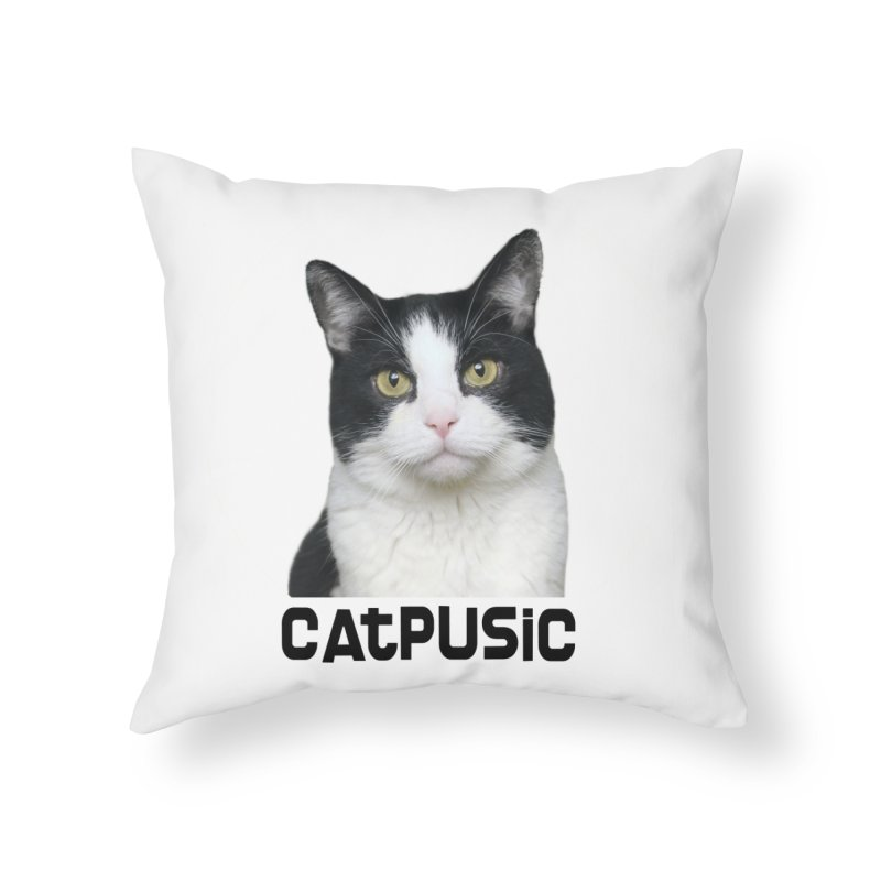 CatPusic Home Throw Pillow by SHOP CatPusic