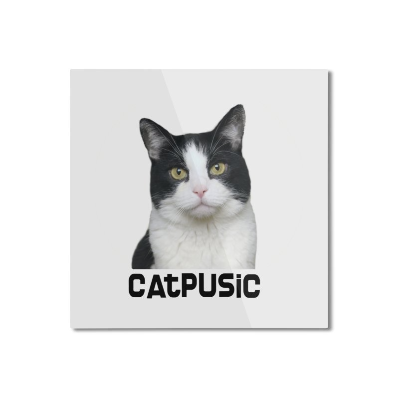CatPusic Home Mounted Aluminum Print by SHOP CatPusic