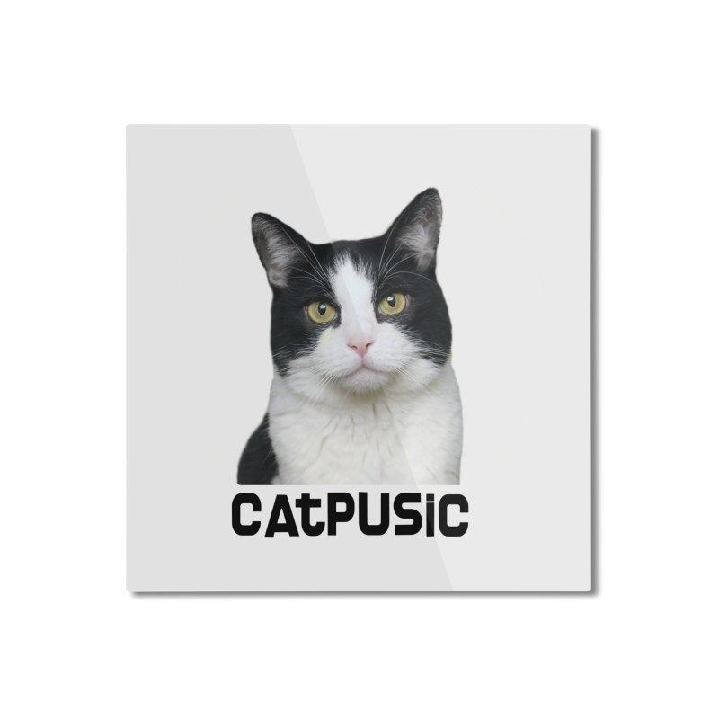 CatPusic Home Mounted Aluminum Print by SHOP CatPusic